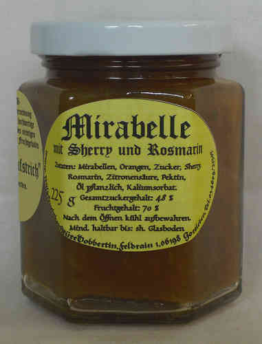 Mirabelle jam with sherry and rosmarin