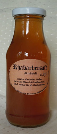 Rhabarbersaft